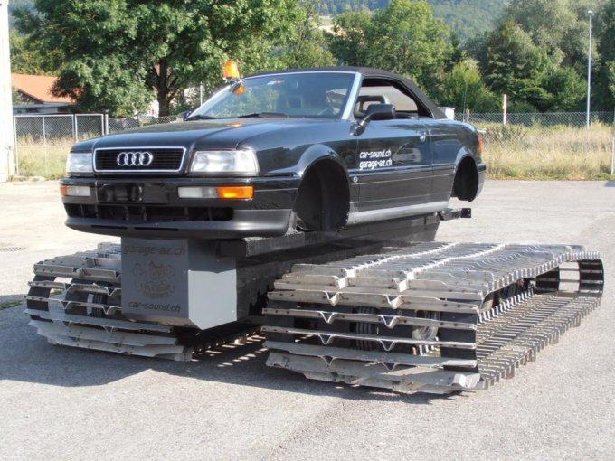 В Швейцарии продают уникальный автомобиль-танк AUDI