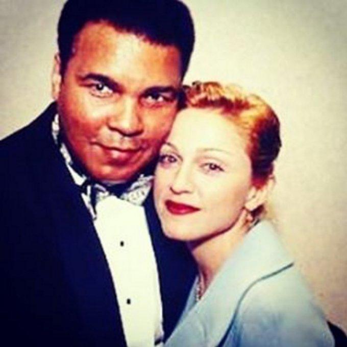 Мадонна показала раритетное фото с Мохаммедом Али