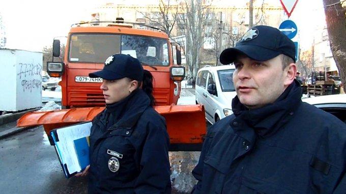 Во Львовской области полиция преследовала снегоуборочную машину