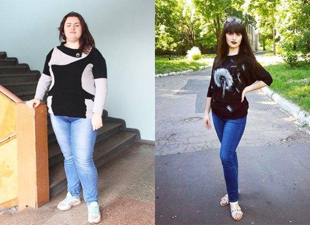Реальные истории похудения Фото до и после