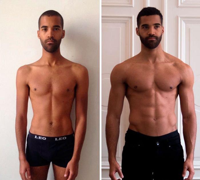 какой-то момент люди занявшиеся спортом фото до и после меня